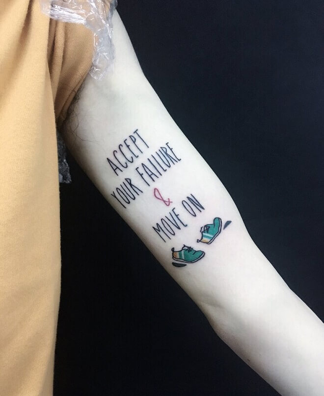 Shoes Quotes Tattoo