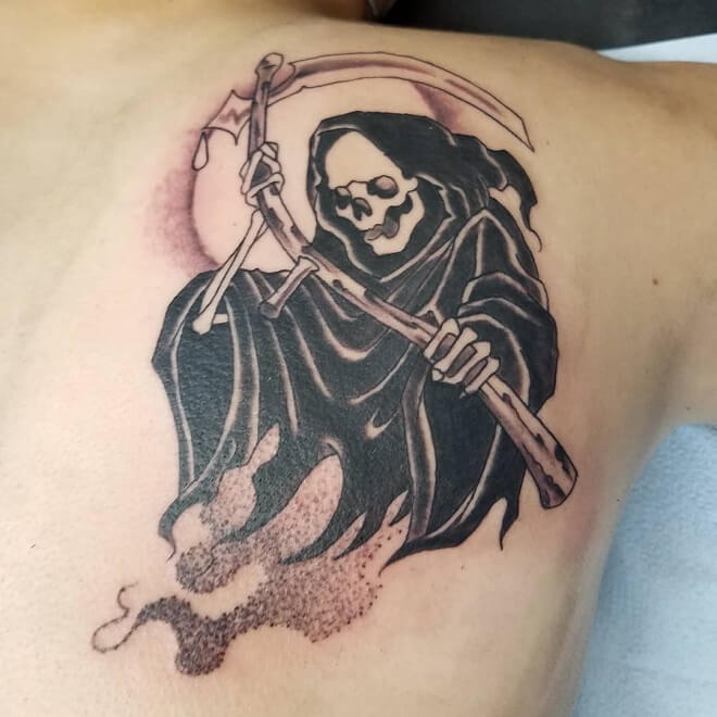 Shoulder Grim Reaper Tattoo