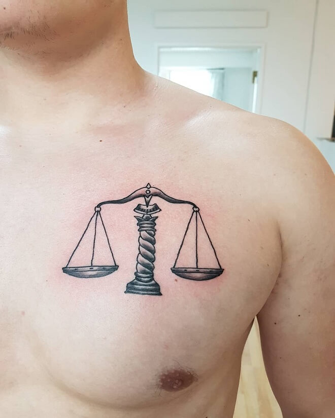 Shoulder Libra Tattoo