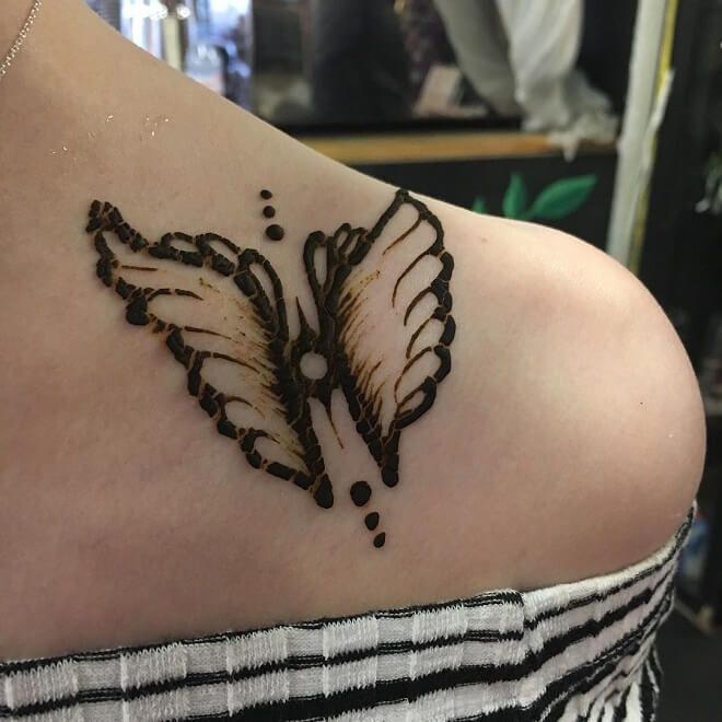 Shoulder angel wings Tattoo