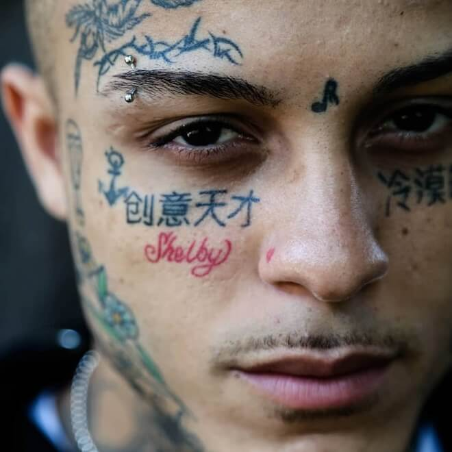 Skies Face Tattoos