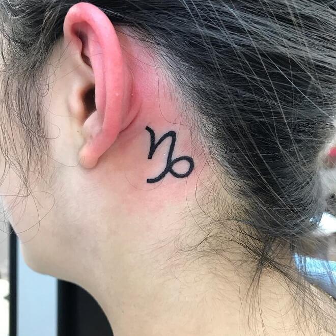 Small Capricorn Tattoo