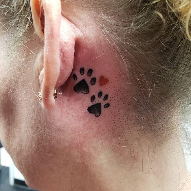 Small Paw Print Tattoo