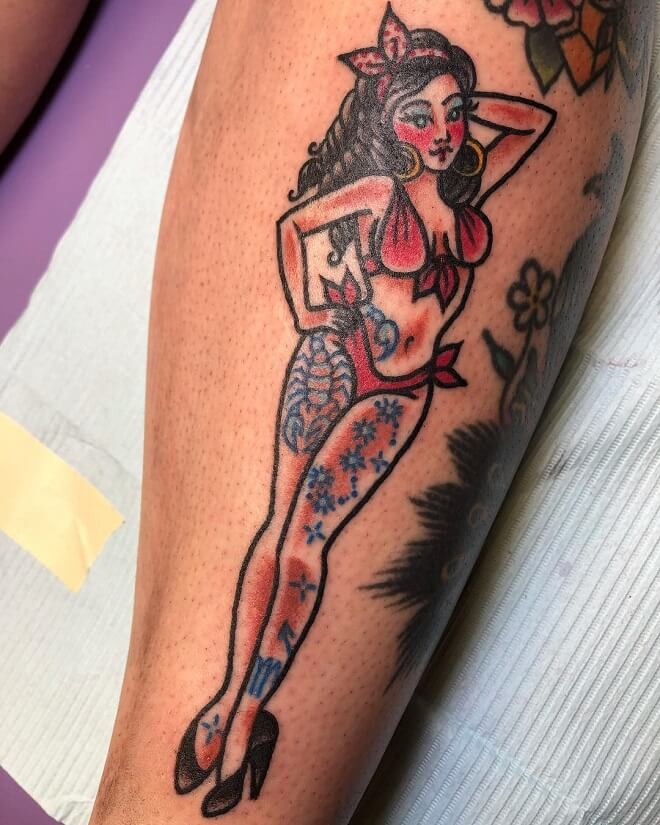 Stunning Pin Up Tattoo
