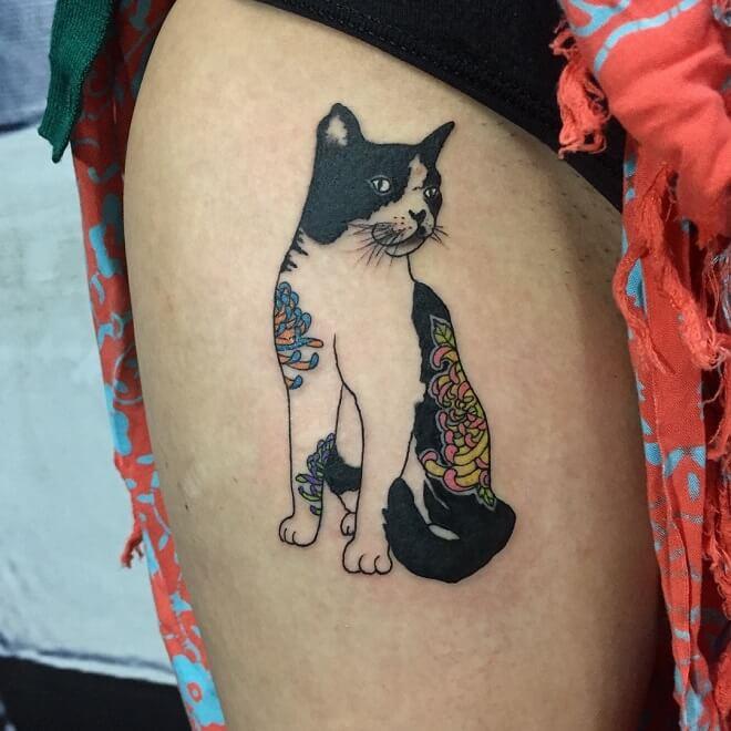 Super Cat Tattoo