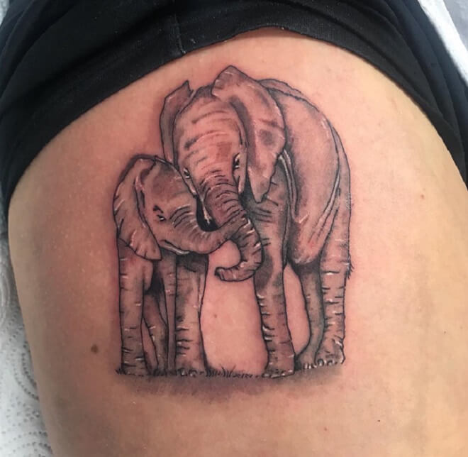 Supreme Elephant Tattoo for Women