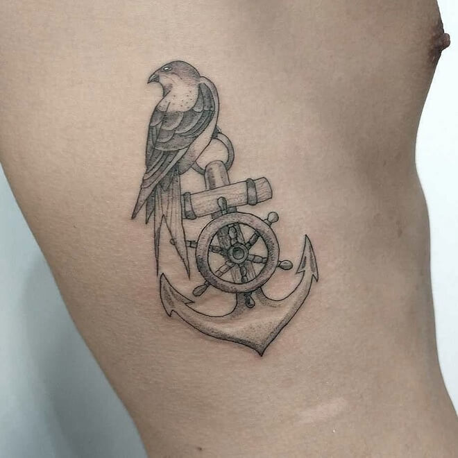 Swallow Anchor Tattoo