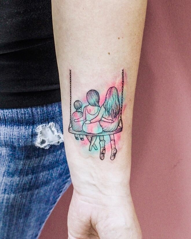 Swing Family Tattoo