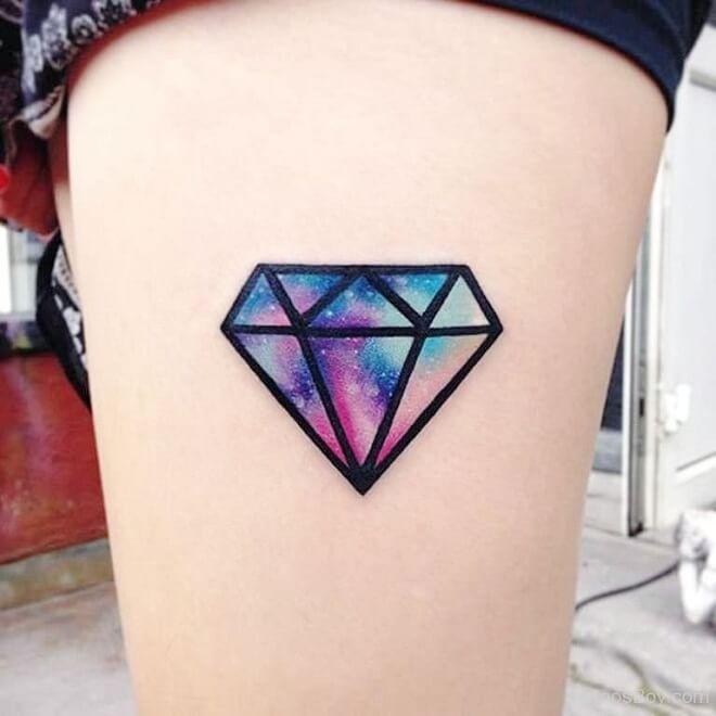 Symetrical Diamond Tattoo