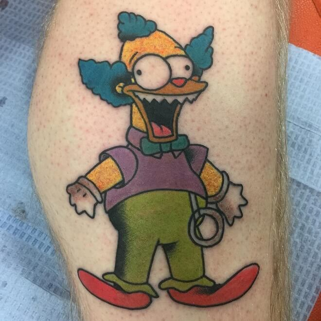 The Solid Ink simpsons Tattoo