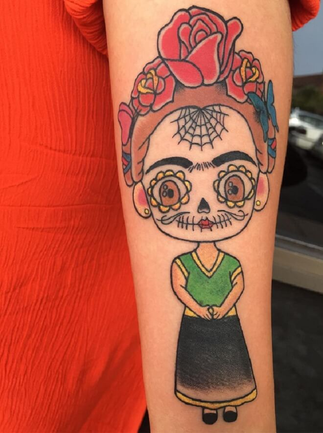 Traditional Day of Dead Tattoo
