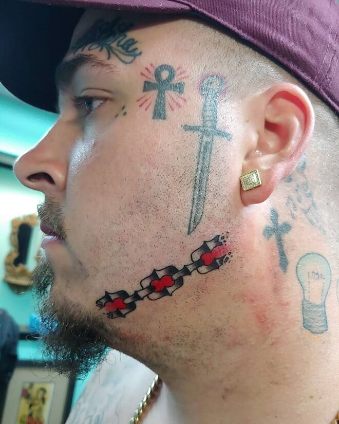 Traditional Face Tattoo