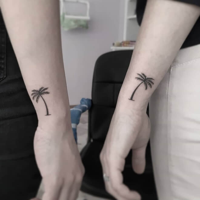 Tree Friendship Tattoo