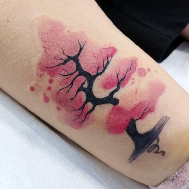 Tree Watercolor Tattoos