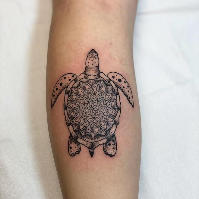 Turtle Leg Tattoo