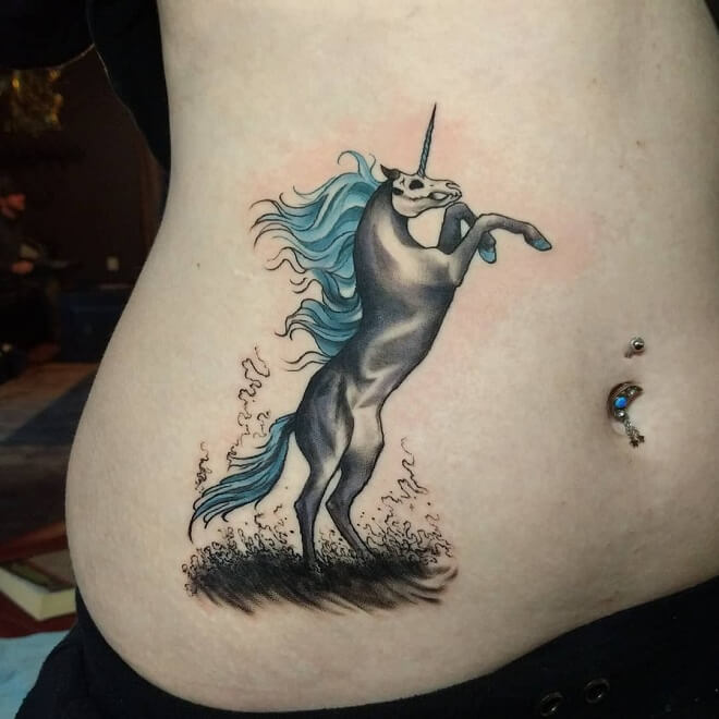 Unicorn Horse Tattoo