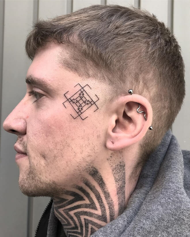 Vegan Face Tattoo
