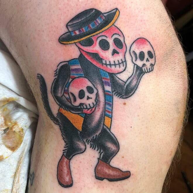 Walk In Day of The Dead Tattoo
