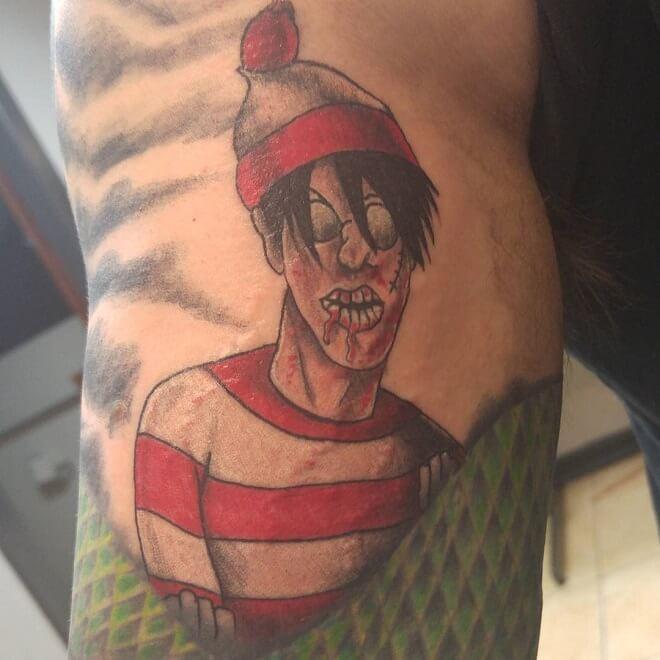 Zombie Waldo Tattoo