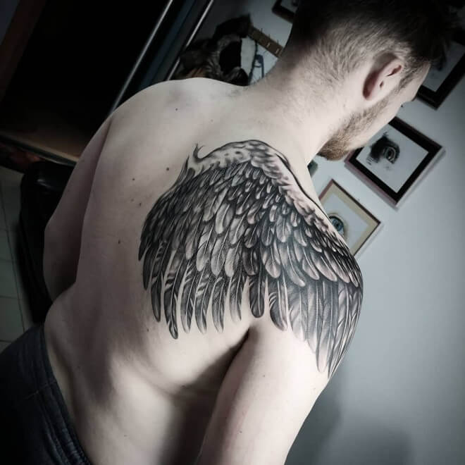 Zulezu Angel Wings Tattoo