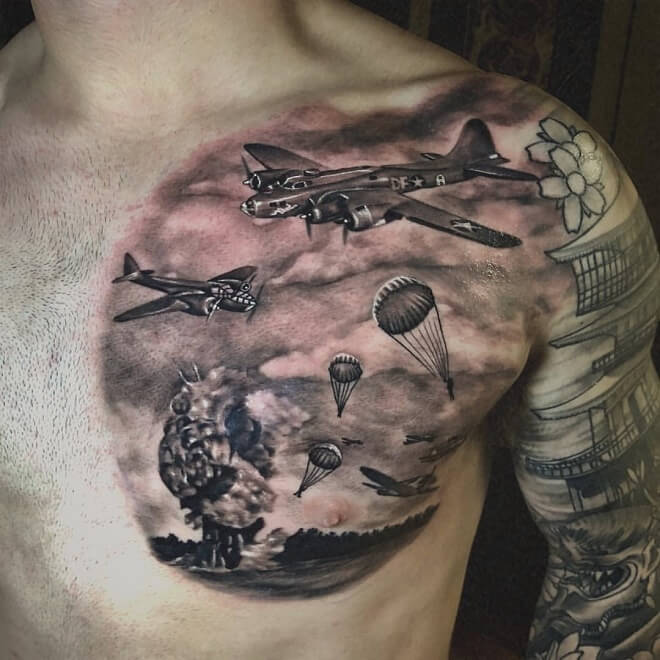 Black Military Tattoos