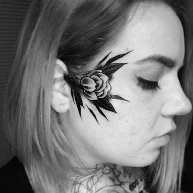 43602bf53 Top 30 Face Tattoos for Women | Amazing Face Tattoo Design 2019