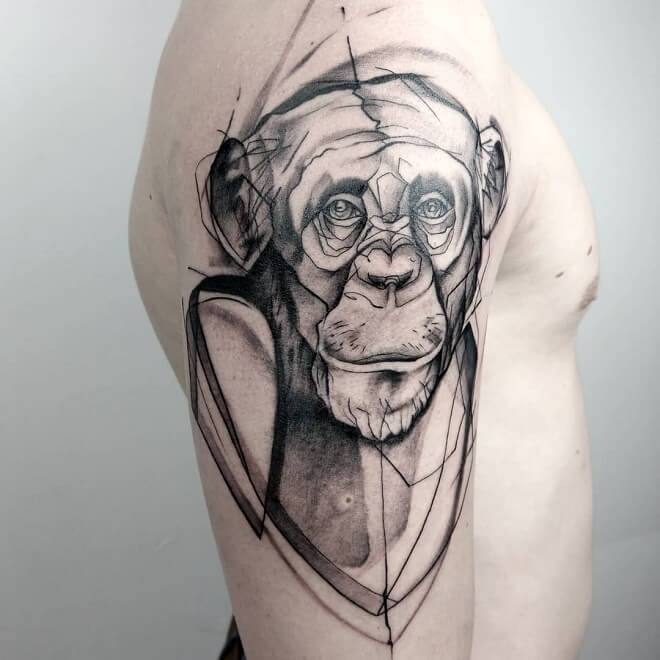 monkey tattoo for men