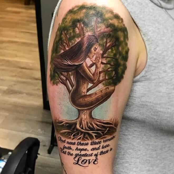 Amazing Tree Tattoo