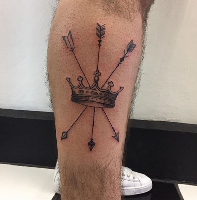 Arrow Crown Tattoo