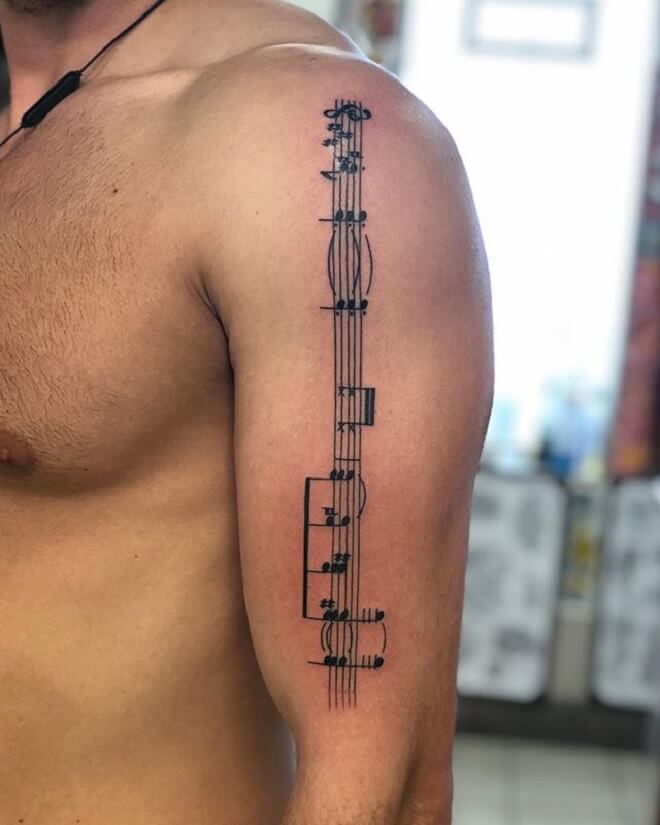 Awesome Music Tattoo