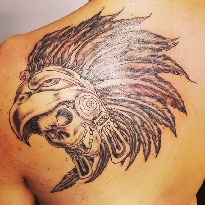 Aztec Back Tattoo