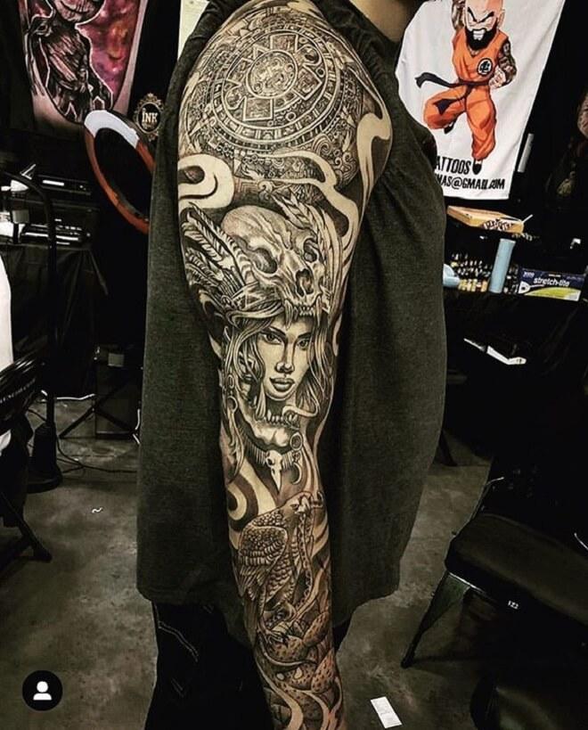 Aztec Tattoo Style