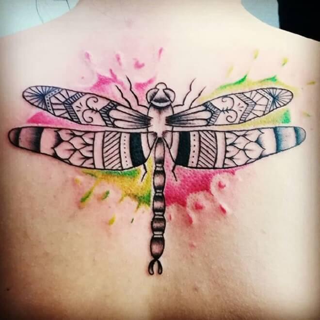 Back Dragonfly Tattoo