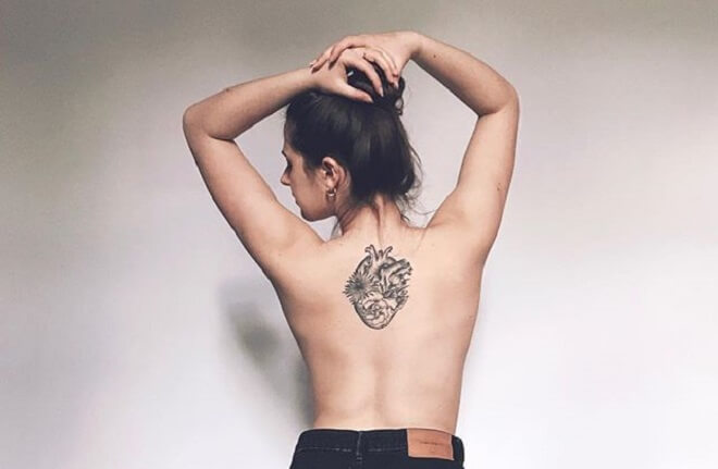 Back Heart Tattoo