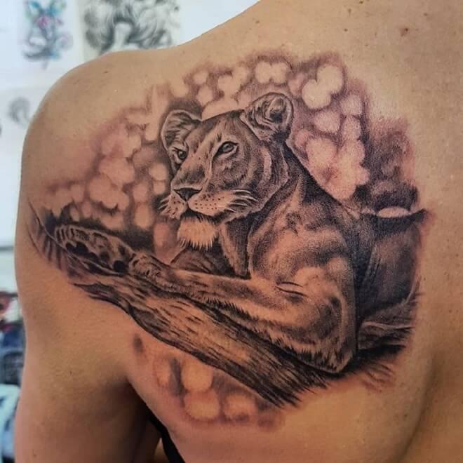 Back Lion Tattoos