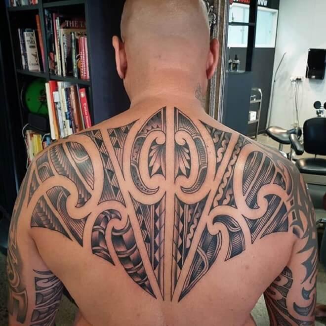 Back Maori Tattoo