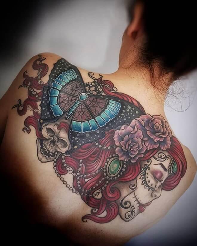 Back Site Girl Dead Tattoo
