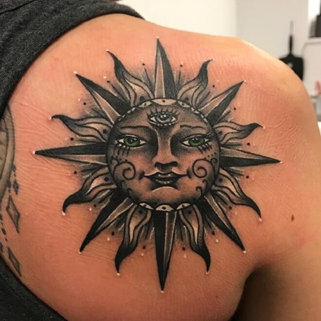 4cd46a71c Top 30 Sun Tattoos Designs | Stunning Sun Tattoo Designs & Ideas