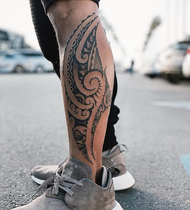 Beautiful Polynesian Tattoo