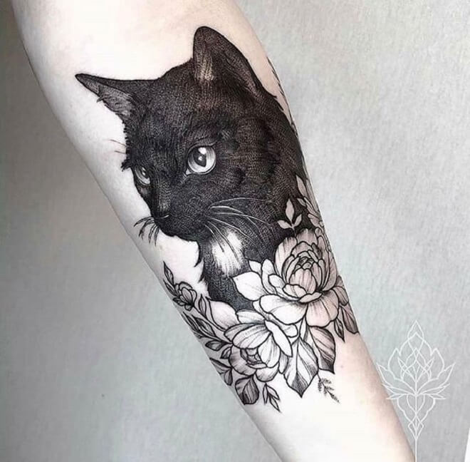 Best Black Cat Tattoo