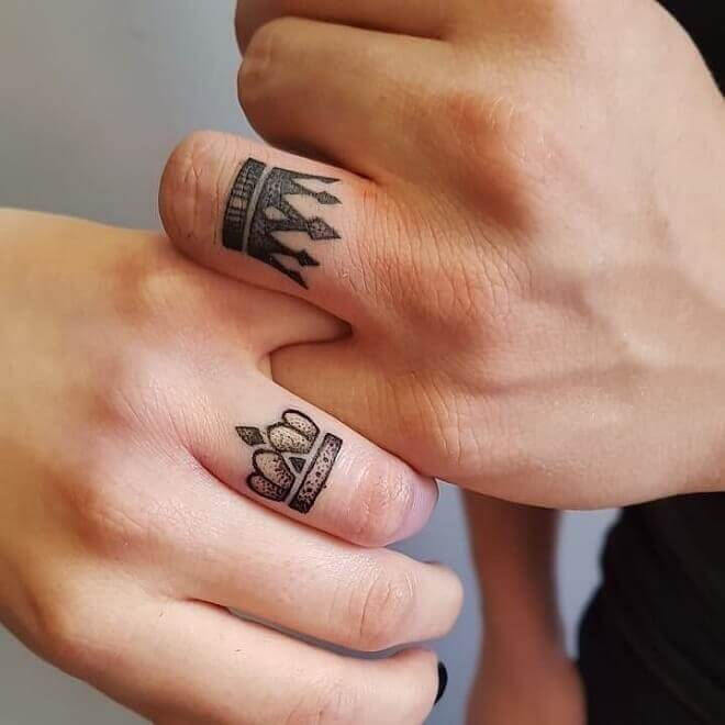 Best Crown Couple Tattoo