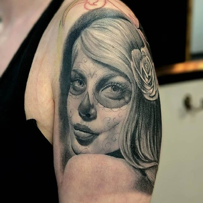 Best Day of the Dead Girl Tattoo