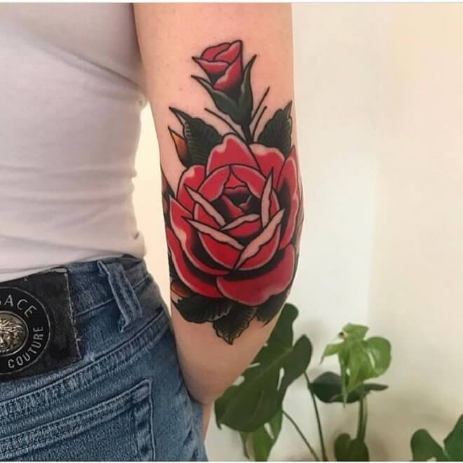 Best Rose Tattoo