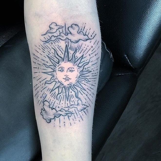 Best Sun Designs Tattoo