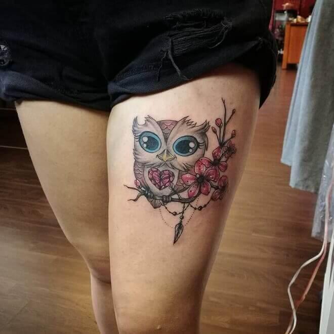 Best Thigh Tattoo
