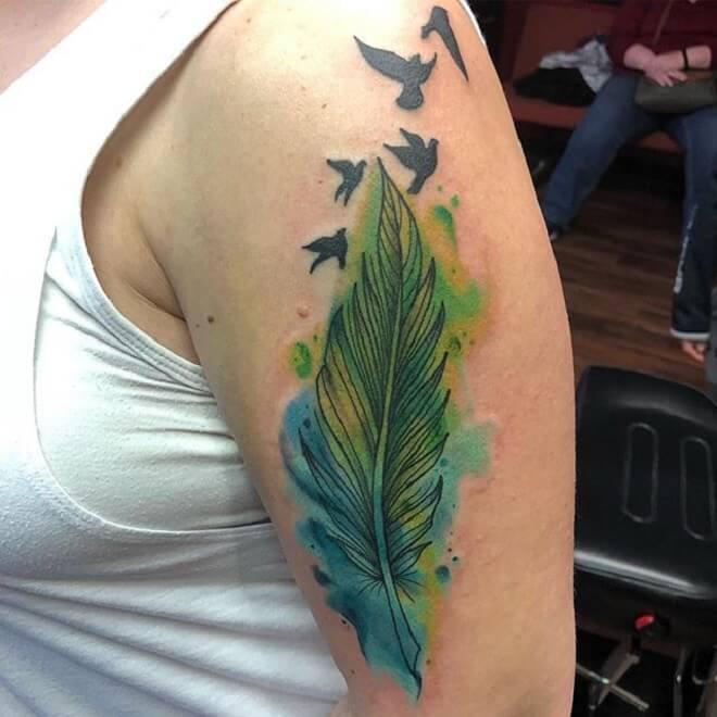 Bird Feather Tattoo