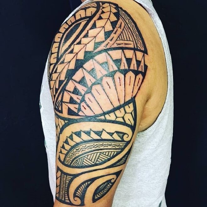 Black Polynesian Tattoo