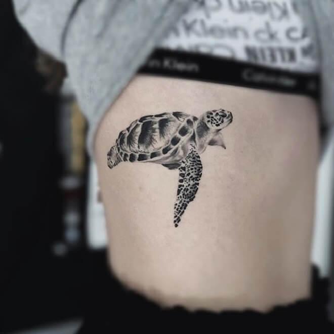 Black Turtle Tattoo