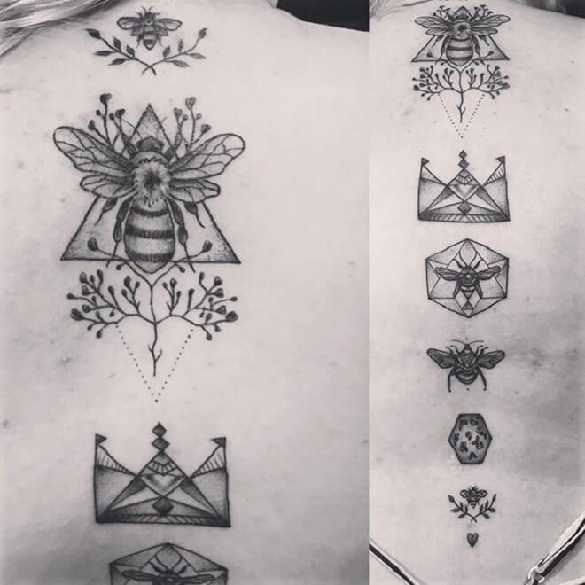 Body Line Geometric Tattoo