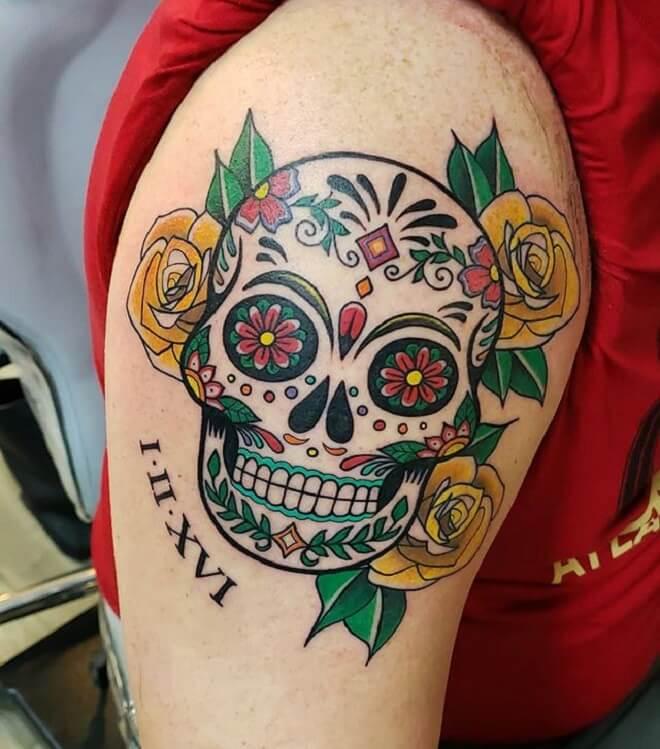 Body Sugar Skull Tattoo